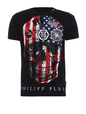 Philipp Plein: t-shirts - Dan embellished T-shirt