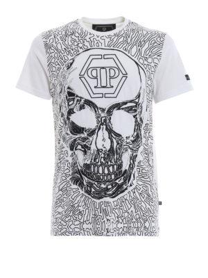 PHILIPP PLEIN: t-shirt - T-shirt Dope con decorazioni all-over