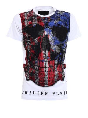 Philipp Plein: t-shirts - Edition rhinestone embellished Tee