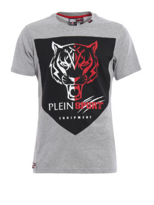 Philipp Plein: t-shirts - High Knee Plein Sport Tee