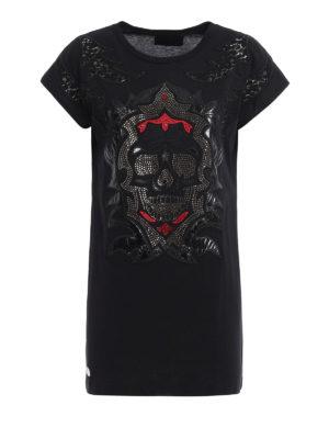 Philipp Plein: t-shirts - Jamien embellished long T-shirt