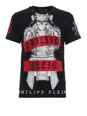 Philipp Plein: t-shirts - Kami skeleton samurai Tee