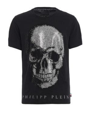 Philipp Plein: t-shirts - Kivo embellished skull T-shirt