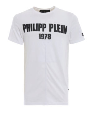 PHILIPP PLEIN: t-shirt - T-shirt bianca My Mind Platinum Cut
