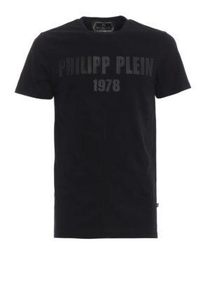 PHILIPP PLEIN: t-shirt - T-shirt con logo gommato My Mind
