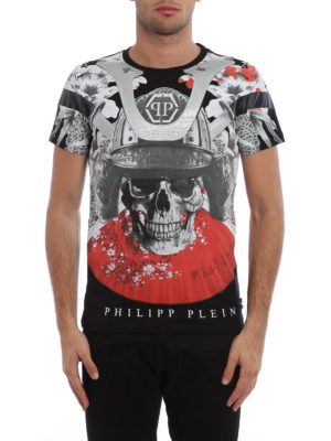 Philipp Plein: t-shirts online - Aizen maxi print T-shirt