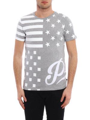 Philipp Plein: t-shirts online - Aplike cotton T-shirt