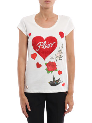 Philipp Plein: t-shirts online - Balinay Prussian decorated T-shirt