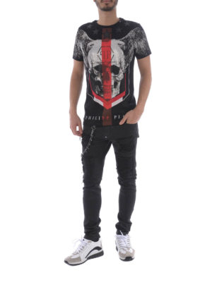 Philipp Plein: t-shirts online - Church's black T-shirt