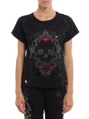 Philipp Plein: t-shirts online - Color Six embellished T-shirt