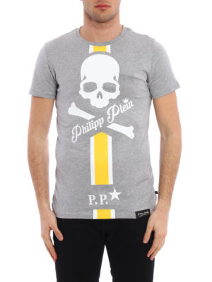 Philipp Plein: t-shirts online - Connect printed cotton T-shirt