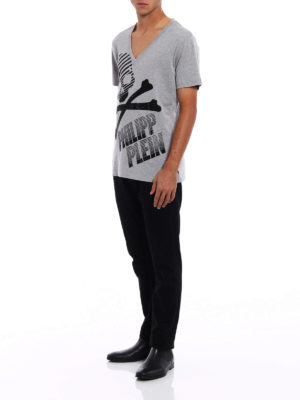 Philipp Plein: t-shirts online - Curtis V neck T-shirt