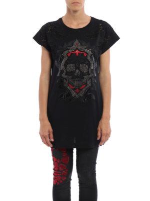 Philipp Plein: t-shirts online - Jamien embellished long T-shirt