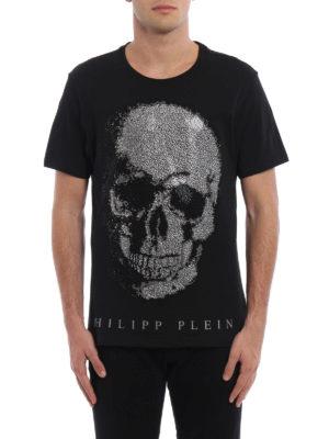 Philipp Plein: t-shirts online - Kivo embellished skull T-shirt