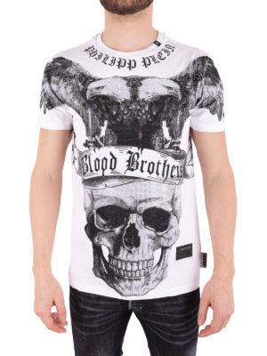 Philipp Plein: t-shirts online - Lips embellished jersey T-shirt
