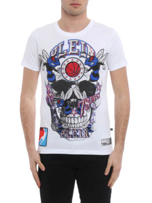 Philipp Plein: t-shirts online - Orange cotton T-shirt