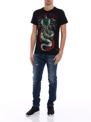 Philipp Plein: t-shirts online - Party All The Time cotton T-shirt