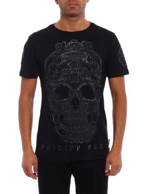 Philipp Plein: t-shirts online - Play skull print T-shirt