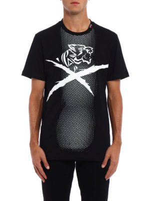 Philipp Plein: t-shirts online - Plein Sport optic print T-shirt
