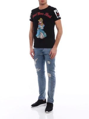 Philipp Plein: t-shirts online - Princess embellished black T-shirt