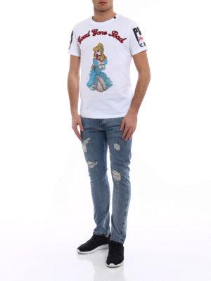 Philipp Plein: t-shirts online - Princess embellished white T-shirt