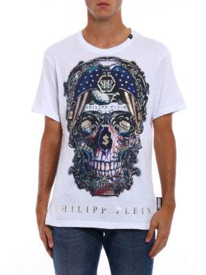 Philipp Plein: t-shirts online - Pusher skull print T-shirt