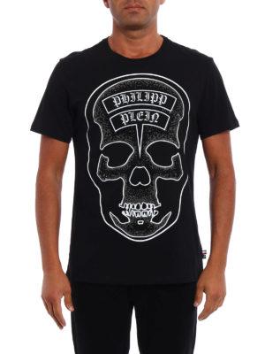 Philipp Plein: t-shirts online - Sata embellished black Tee