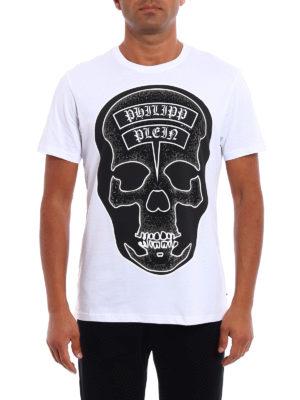 Philipp Plein: t-shirts online - Sata embellished white Tee