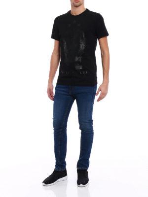 Philipp Plein: t-shirts online - Say something total black Tee