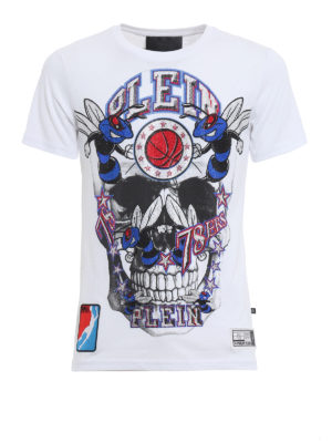 Philipp Plein: t-shirts - Orange cotton T-shirt
