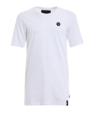 PHILIPP PLEIN: t-shirt - T-shirt bianca Original Black Cut