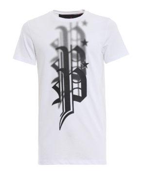 PHILIPP PLEIN: t-shirt - T-shirt bianca Plein Gang Fucking Fresh