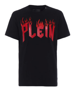 Philipp Plein: t-shirts - Plein in Flame cotton T-shirt