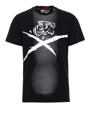 Philipp Plein: t-shirts - Plein Sport optic print T-shirt