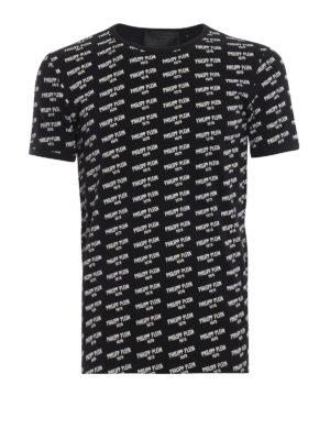 PHILIPP PLEIN: t-shirt - T-shirt nera in cotone PP 1978