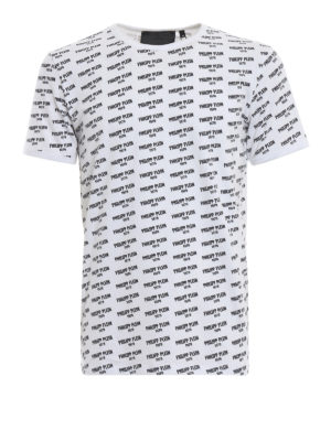 PHILIPP PLEIN: t-shirt - T-shirt bianca in cotone PP 1978