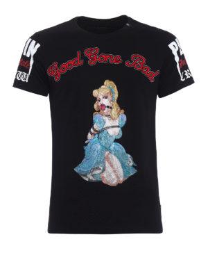 Philipp Plein: t-shirts - Princess embellished black T-shirt