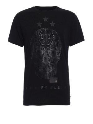 Philipp Plein: t-shirts - Say something total black Tee