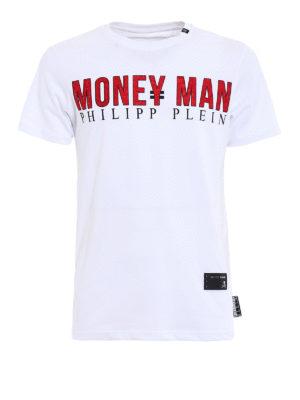 Philipp Plein: t-shirts - See you-S white T-shirt
