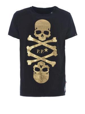 PHILIPP PLEIN: t-shirt - T-shirt Skulls nera