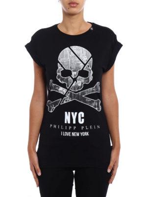 Philipp Plein: Tops & Tank tops online - York Man black cotton slim T-shirt