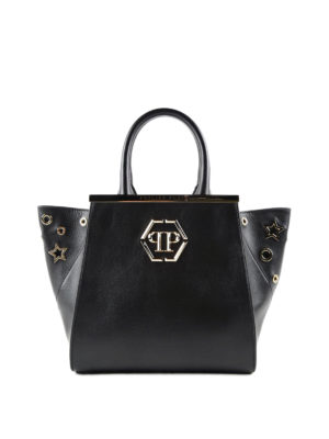 Philipp Plein: totes bags - New Orleans leather tote