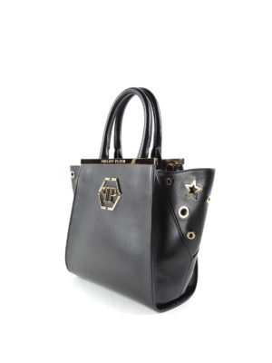 Philipp Plein: totes bags online - New Orleans leather tote