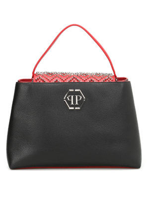 Philipp Plein: totes bags - War studded leather bag