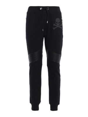 Philipp Plein: tracksuit bottoms - Ana biker style jogging pants