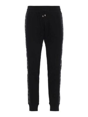 PHILIPP PLEIN: pantaloni sport - Pantaloni da jogging neri Black Band