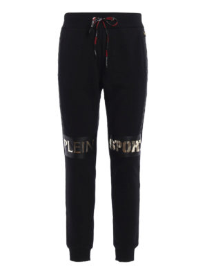 Philipp Plein: tracksuit bottoms - Gold Fat City sweat pants