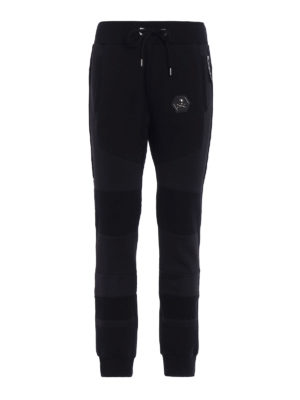 Philipp Plein: tracksuit bottoms - I See Fire black jogging trousers