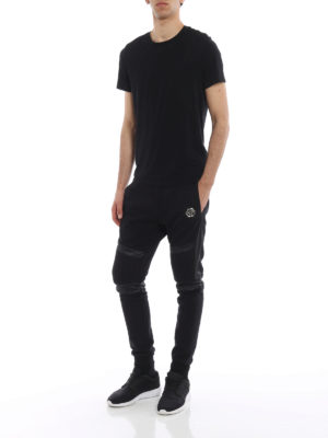 Philipp Plein: tracksuit bottoms online - Biggest Mistake cotton sweatpants