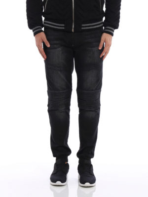 Philipp Plein: tracksuit bottoms online - Controversia denim pull on trousers